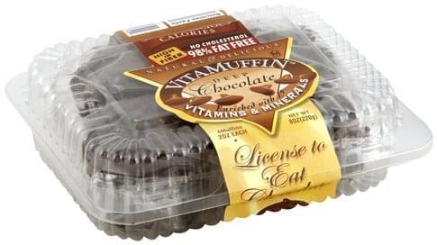 VitaMuffin Deep Chocolate Muffins - 4 ea