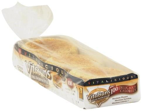 Vitabuns English Muffins - 6 ea