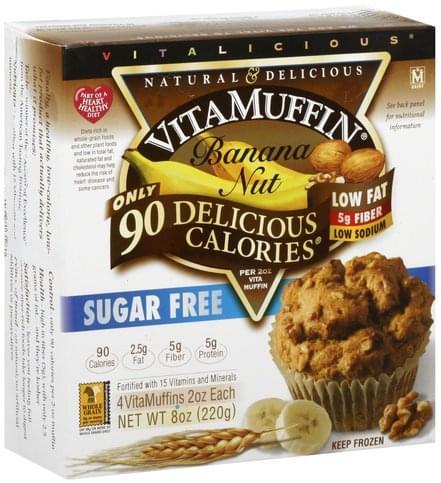VitaMuffin Banana Nut Muffins - 4 ea