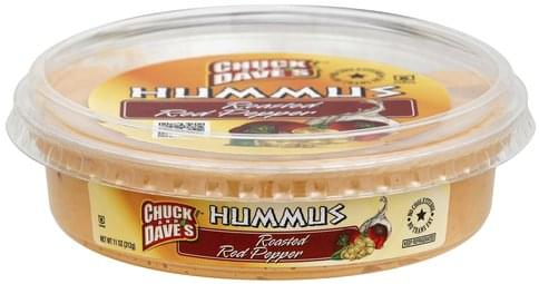 Chuck And Daves Roasted Red Pepper Hummus - 11 oz