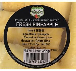 Fresh Garden Highway Pineapple