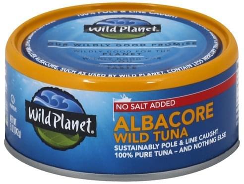 Wild Planet Wild, No Salt Added, Albacore Tuna - 5 oz