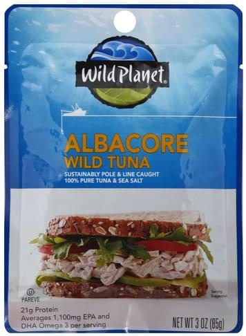 Wild Planet Wild, Albacore Tuna - 3 oz