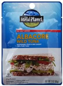 Wild Planet Tuna Wild, No Salt Added, Albacore