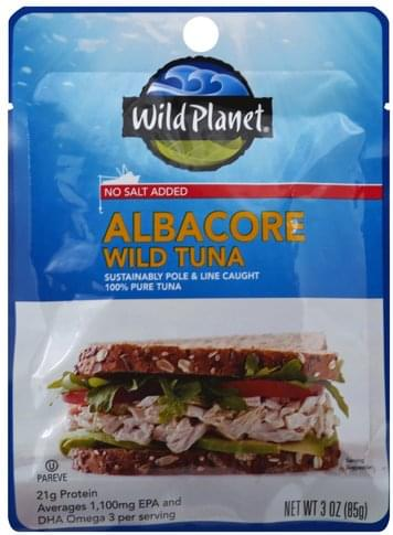 Wild Planet Wild, No Salt Added, Albacore Tuna - 3 oz
