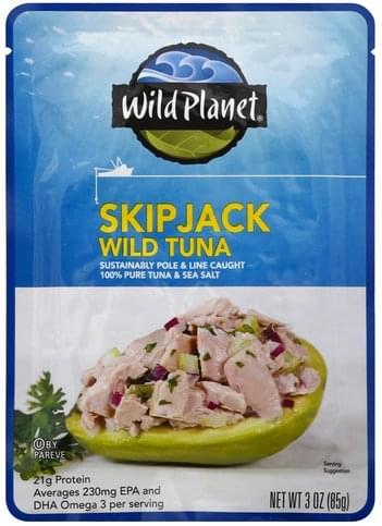 Wild Planet Skip Jack Wild Tuna - 3 oz