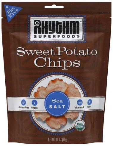 Rhythm Superfoods Sweet Potato, Sea Salt Chips - 1 oz