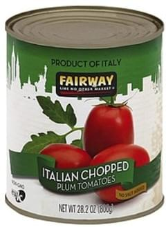 Fairway Tomatoes Plum, No Salt Added, Italian, Chopped