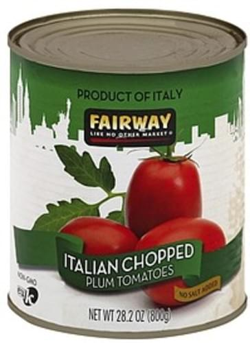 Fairway Plum, No Salt Added, Italian, Chopped Tomatoes - 28.2 oz
