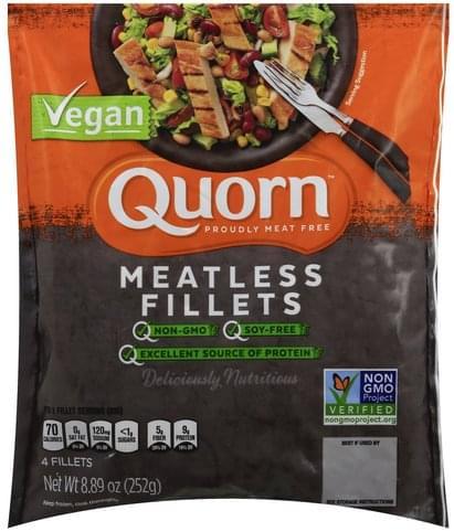 Quorn Vegan, Meatless Fillets - 4 ea