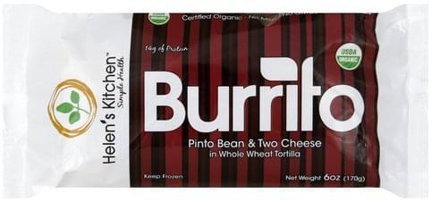 Helens Kitchen Pinto Bean & Two Cheese Burrito - 6 oz