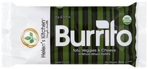 Helens Kitchen Burrito Tofu, Veggies & Cheese