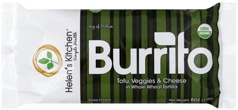 Helens Kitchen Tofu, Veggies & Cheese Burrito - 6 oz