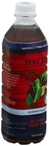 Teas Tea Decaf, Unsweetened Black Tea - 16.9 oz