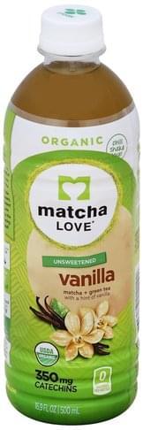 Matcha Love Unsweetened, Vanilla Matcha + Green Tea - 16.9 oz