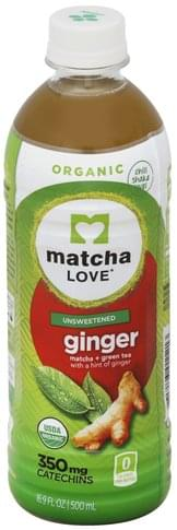 Matcha Love Unsweetened, Ginger Matcha + Green Tea - 16.9 oz