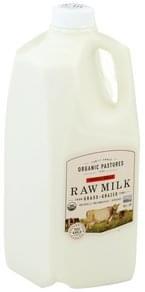 Organic Pastures Raw Milk Organic, Whole