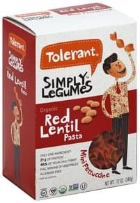 Tolerant Fettuccine Organic, Red Lentil, Mini