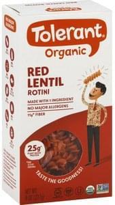 Tolerant Rotini Organic, Red Lentil