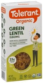 Tolerant Elbows Organic, Green Lentil
