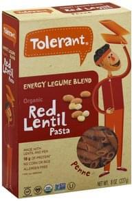 Tolerant Penne Organic, Red Lentil Pasta