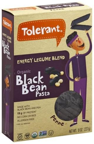 Tolerant Organic, Black Bean Pasta Penne - 8 oz