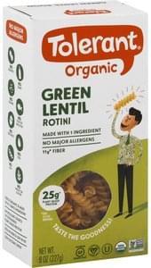 Tolerant Rotini Organic, Green Lentil