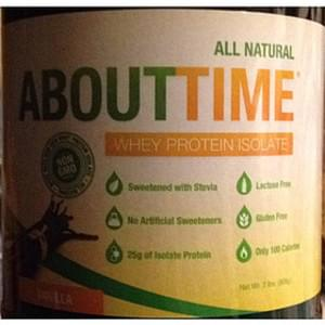 About Time Whey Protein Isolate Vanilla