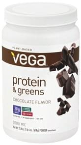Vega Drink Mix Protein & Greens, Powder, Chocolate Flavor