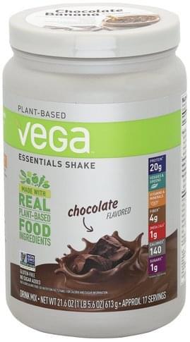Vega Essentials Shake, Chocolate Flavored Drink Mix - 21.6 oz