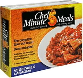Chef 5 Minute Meals Vegetable Lasagna