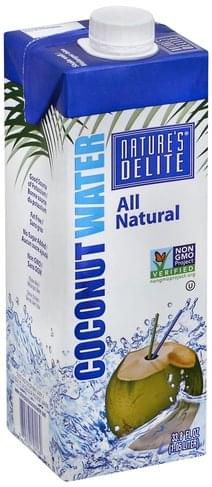 Natures Delite Coconut Water - 33.8 oz