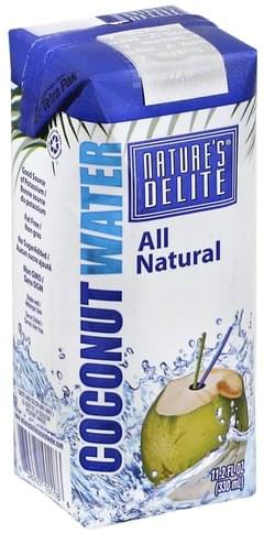 Natures Delite Coconut Water - 11.2 oz