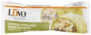 Luvo Burrito Chicken Poblano Verde