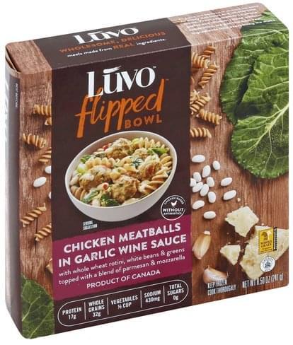 Luvo in Garlic Wine Sauce Chicken Meatballs - 8.5 oz