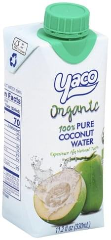 Yaco 100% Pure, Organic Coconut Water - 11.2 oz
