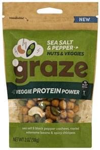 Graze Nuts & Veggies Sea Salt & pepper