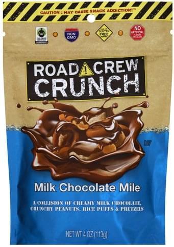 Road Crew Crunch Milk Chocolate Mile - 4 oz