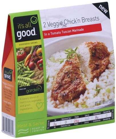 Its All Good in a Tomato Tuscan Marinade Veggie Chick'n Breasts - 10.5 oz