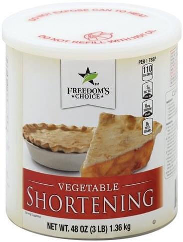 Freedoms Choice Vegetable Shortening - 48 oz