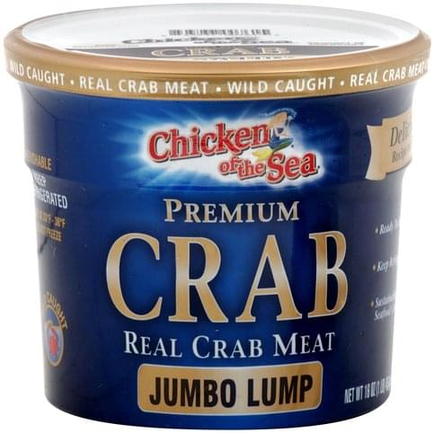 Chicken of the Sea Jumbo Lump Real Crab Meat - 16 oz