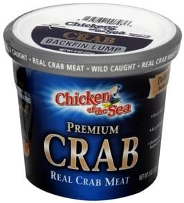 Chicken of The Sea Real Crab Meat Backfin Lump, Premium