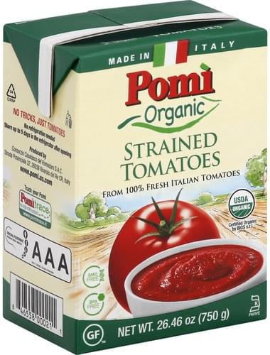 Pomi Strained, Organic Tomatoes - 26.46 oz
