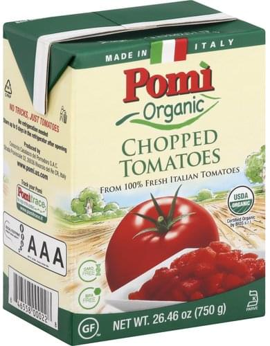 Pomi Organic, Chopped Tomatoes - 26.46 oz