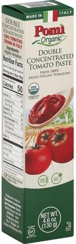 Pomi Organic, Double Concentrated Tomato Paste - 4.6 oz