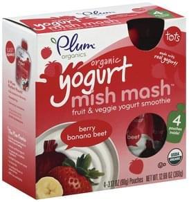 Plum Yogurt Mish Mash Organic, Berry Banana Beet