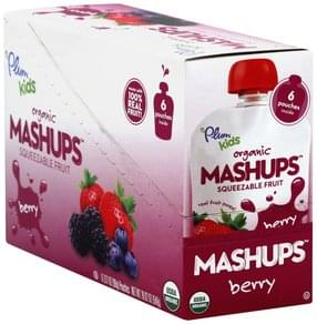 Plum Squeezable Fruit Organic, Berry