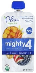 Plum Nutritious Blend Sweet Potato, Carrot, Blueberry, Apple, Greek Yogurt, Millet, Oat
