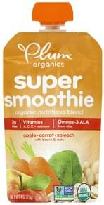 Plum Super Smoothie Apple, Carrot, Spinach