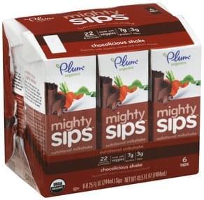 Plum Nutritional Milkshake Mighty Sips, Chocolicious